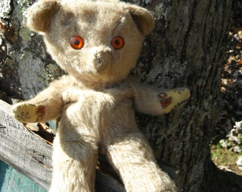 Vintage Handmade Teddy Bear - Soft and Cuddly - Patchwork Paws