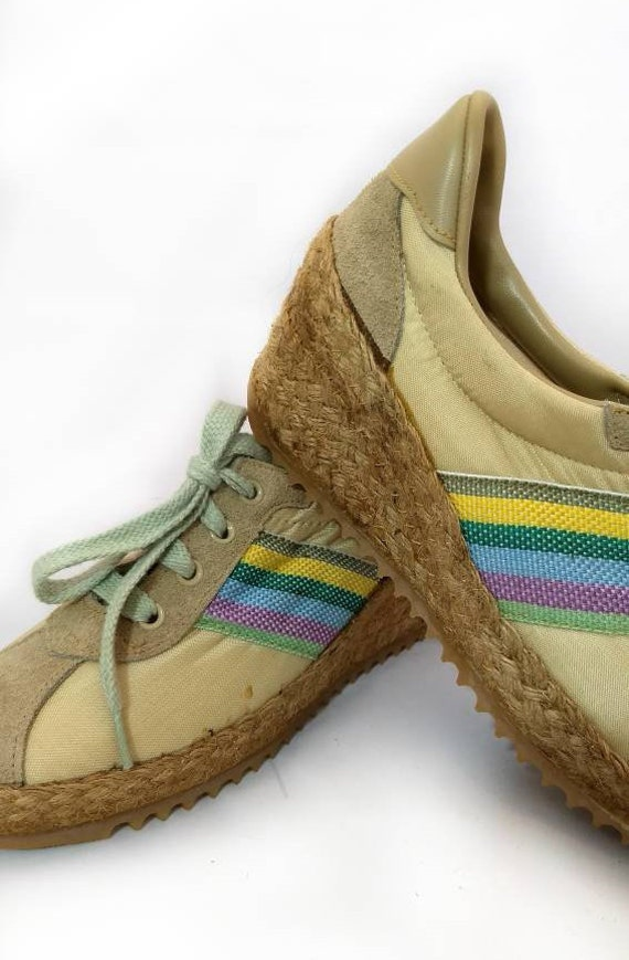 Size Specs Wedge Espadrille Tennis 70s Vintage 60s Sneakers Weekenders By 6 NOS Shoes PZqRO