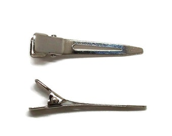 50 Single Prong Alligator Hair Clips 45mm (1 3/4 inch)