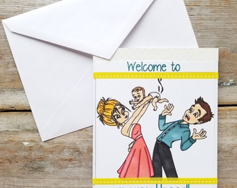 Funny Baby Card - New Baby Greeting Card - Funny Congratulations Card - New Baby Card Funny - New Baby Card - Congratulations Baby