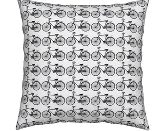 Bike Print Cushion Cover-Bike Cushion Cover-Bicycle Print Cushion Cover