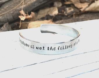 Teacher gift, teacher bracelet, teacher cuff bracelet, teacher appreciation gift, end of year teacher gift, gift for teacher, personalized