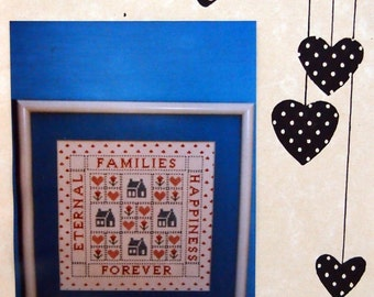 Families By Patricia Ann Vintage Cross Stitch Pattern Packet 1987