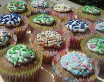 Dog Treats - Spring Fling PupCakes Mini Cupcakes - - All Natural Organic Vegetarian Dog Treats - - Shorty's Gourmet Treats