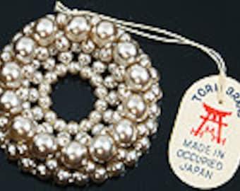 """Vintage Imitation Pearl  1 1/4"""" Sew-on embellishment"""