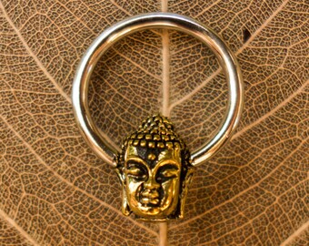 buddha hoops septum piercing earring