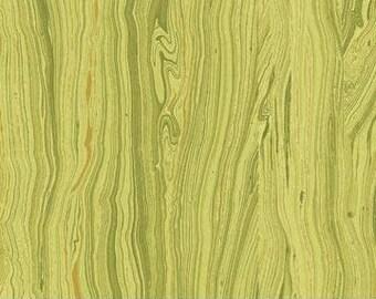 "MOSS green- Sandscape swirl/marblized/granite/ripples 45"" wide 100% cotton fabric [[by the half yard]]"