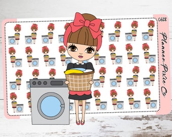 Planner Girl Stickers,  Laundry, Housework, Chores, Clean CG28