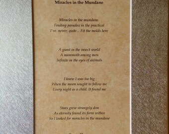 Miracles in the Mundane