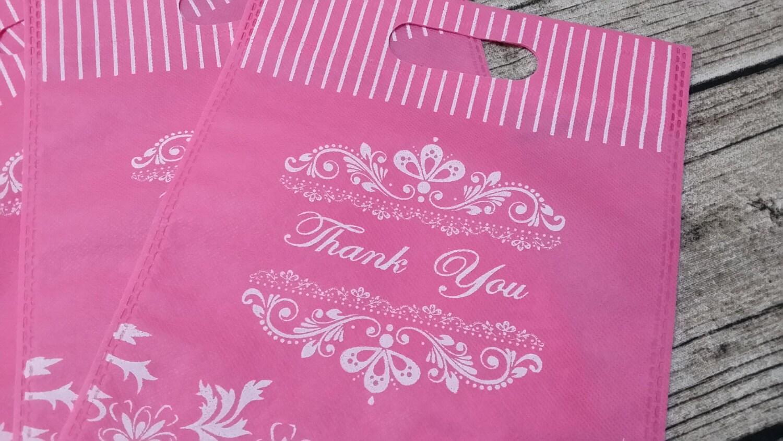 20 Thank You Non Woven Wedding BagsWedding Favor Bags Candy