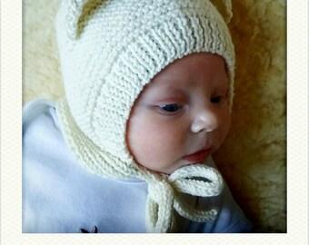 Baby bear hat, Bear hat, newborn bear hat, newborn photo prop,polar bear, new baby hat, bear ears hat, baby bonnet,new baby gift 0-3months