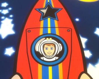 Personalised Rocket Print
