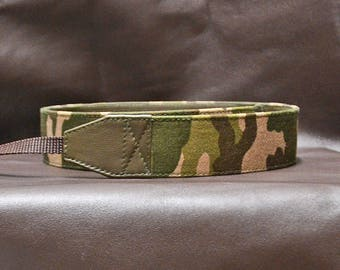 Camera Strap DSLR  leather  Camouflage beige