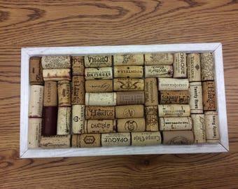 Wine bottle cork bulletin board