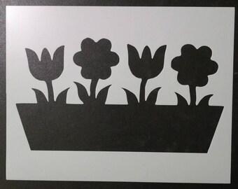 Spring Flowers Flower Custom Stencil FAST FREE SHIPPING