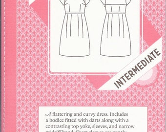 Colette Macaron 1001 Dress: Intermediate sewing pattern, sizes 0-18, factory-folded