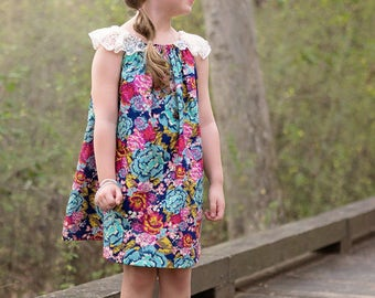 Vienna Top and Dress PDF Sewing Pattern,inc. sizes 12 months - 12 years, Boho Sewing Pattern