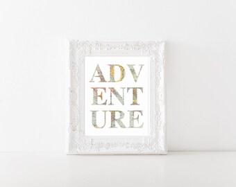 Adventure World Map Printable, Digital Printable