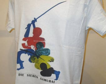 Seven Samurai Printed T Shirt - 1950s German Kurosawa Movie Poster Art - New W489 Mens Womens Tee