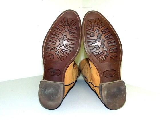 Suede Cowboy 5 D Boots Vintage size Tan cowgirl size or Wolverine Brown 9 10 qOxZwEgIx