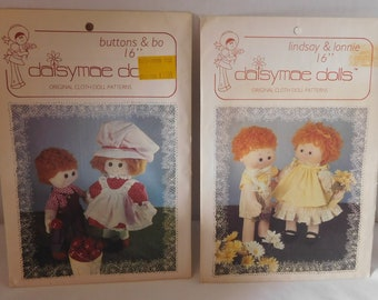 1981 Daisymae Doll Pattern Buttons and Bo Lindsay and Lonnie uncut