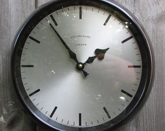 1940/1950s Synchronome  Vintage Electric Wall Clock
