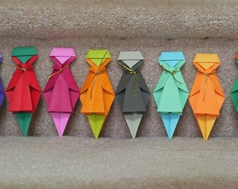 RainBow Girls - 6 Origami Paper Dolls