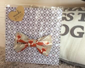 Lovely Handmade Fox Bow Tie for Dogs