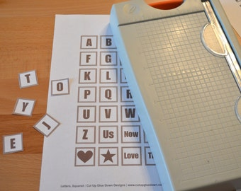 Printable Letters/Alphabet Squares for Scrapbooking and More