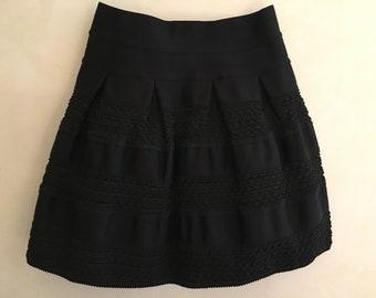 vintage mini skirt, 90s stretch skirt, vintage stretch skirt, stretch black skirt, trimmings skirt, gonna vintage elasticizzata, anni '90