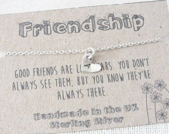 Sterling Silver Friendship Bracelet, Custom Silver Heart Bracelet, Initial Bracelet, Hand Stamped Bracelet, Bridesmaid Bracelet