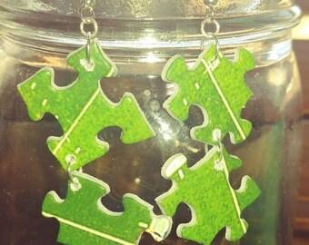 Denver Broncos Puzzle Earrings