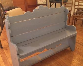 Primitive Bench Grey Paint