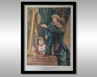 A Chip Of The Old Block - By E.K.Johnson - The Graphic Christmas Number 1881 - Antique Victorian Print - Wall Art