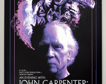 John Carpenter Live in Detroit Screen Print