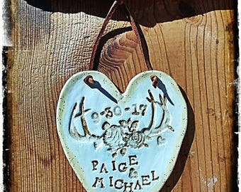Wedding Date Heart Ornament/Plaque