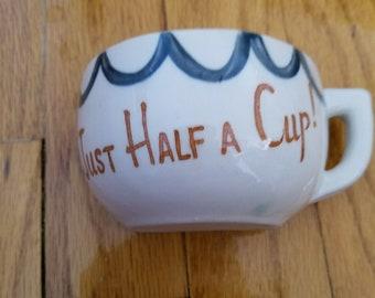 A half of cup mug