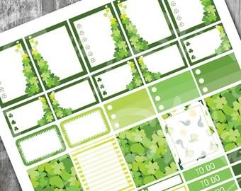 Weekly St Patrick Planner Sticker, Printable Sticker, Erin Condren Planner Sticker