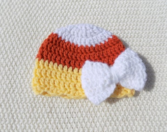 Girl Candy Corn Hat, Candy Corn Hat, Toddler Halloween Hat, Halloween, Crochet Hat, Infant Candy Corn Hat, Newborn Halloween Hat, Candy Corn