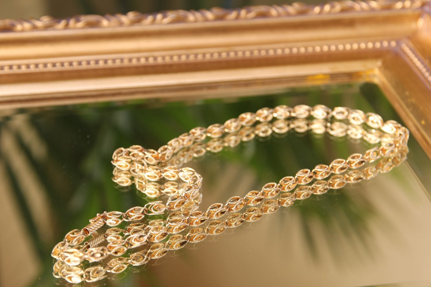 inch yellow chains byzantine pin karat chain mm gold