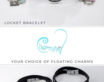 Floating Charm Bracelet, Silver Locket Best Friend Bracelet, Floating Charms for Locket, Bracelet Charms for Best Friend, Locket Bracelet