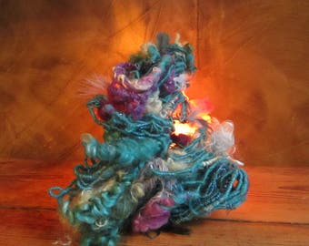 "The spinning wheel ""coup de folie"" hand-spun wool 50 gr / m 20"