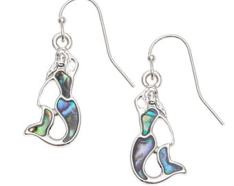 Mermaid Earrings Abalone Earrings Hook Earrings Birthday Gift for Her Hypoallergenic Jewelry Abalone Jewellery Handmade Paua Shell Earrings