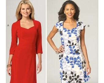 Sewing Pattern for Misses' Diamond-Neck Dresses, Kwik Sew 4132, Women's Dress, Dress Pattern