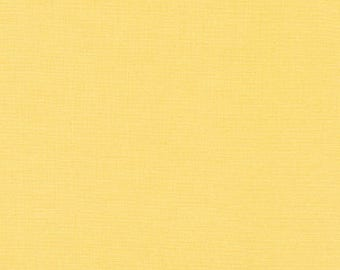 Buttercup Kona Cotton, Yellow, Robert Kaufman Fabrics, Half Yard