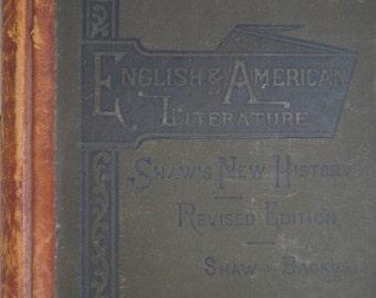 English & American Literature  - Shaw's New History of English Literature - Truman J. Backus - 1884