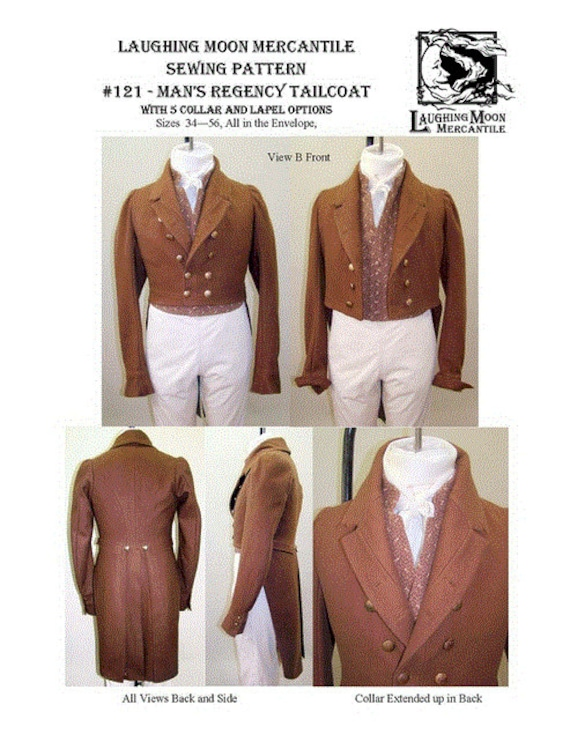 LM121 1810 1830 Men\'s Regency Tailcoat with Five