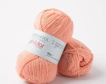 "wool LAMBSWOOL salmon color ""Garance"""