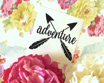 Adventure Arrows Glossy Vinyl Decal