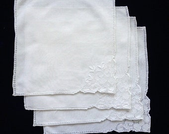 Vintage napkins, set of four